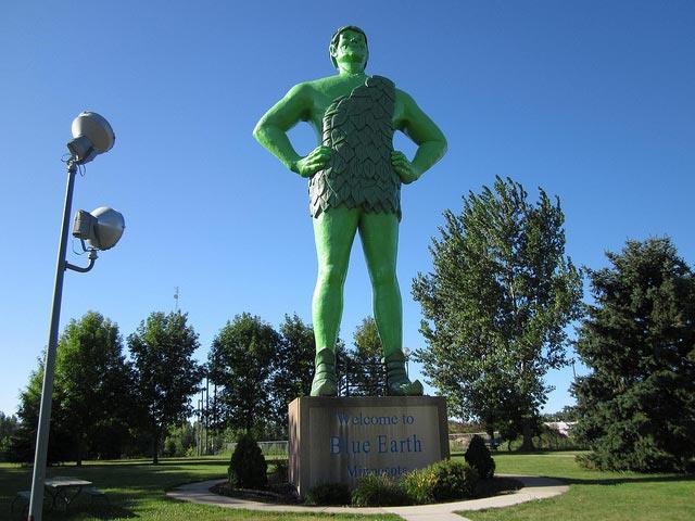 World S Tallest Jolly Green Giant In Blue Earth Minnesota