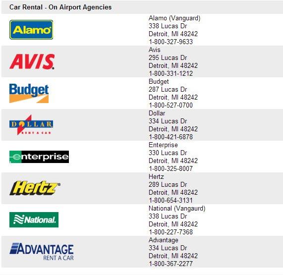 Rental Car Companies In Detroit Airport
