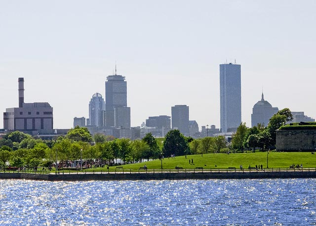 Boston skyline from Castle Island