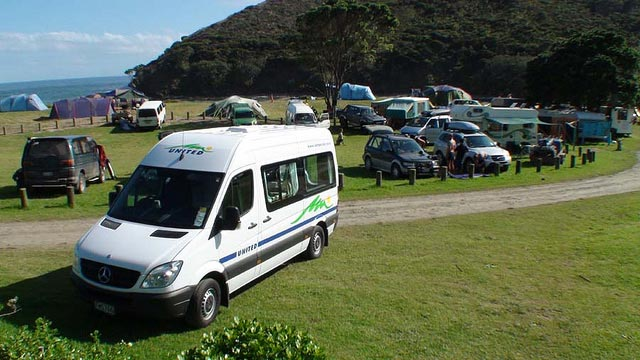 Motorhome at the bay RV Rental US