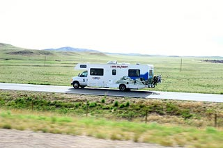 US RV rental on the road