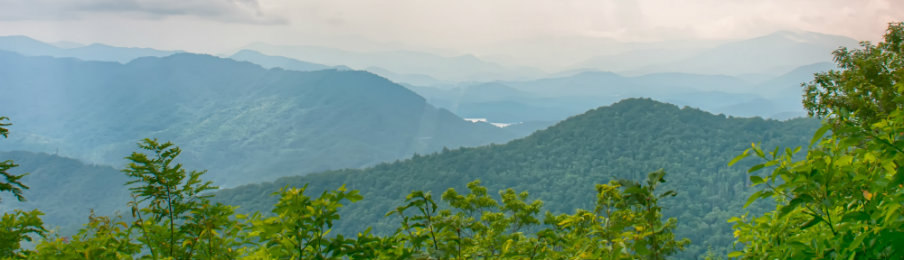 Ridges of the Smokey Mountains near Waynesville