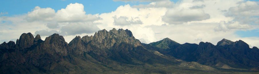 lovely view of the organ mountains, east of las cruces in new mexico