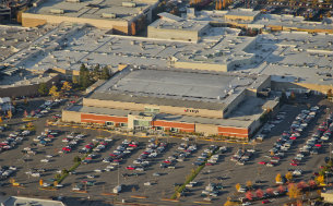 aerial view of macy department store