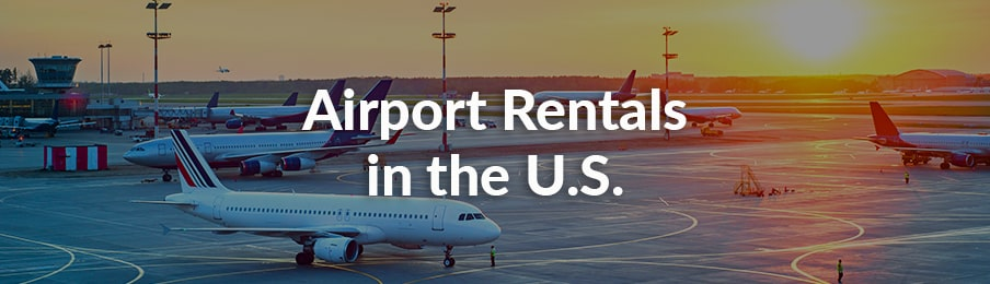 airport rentals in the US
