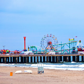 amusement park at steel pier in atlantic city