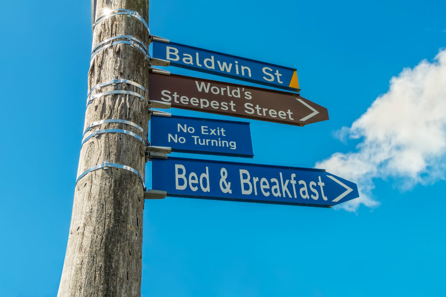 baldwin street sign dunedin