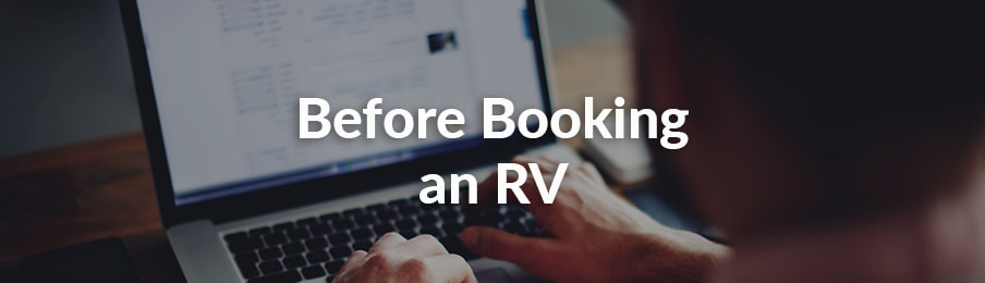 Before booking an RV in the USA banner