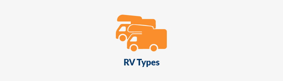 Before booking an RV, Vehicle types banner