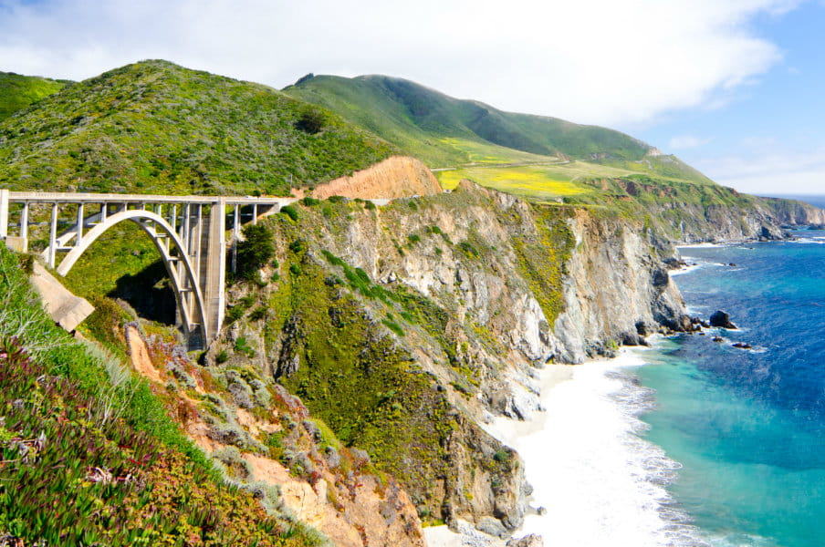 Bixby Bridge In California Along Pacific Coast Usa