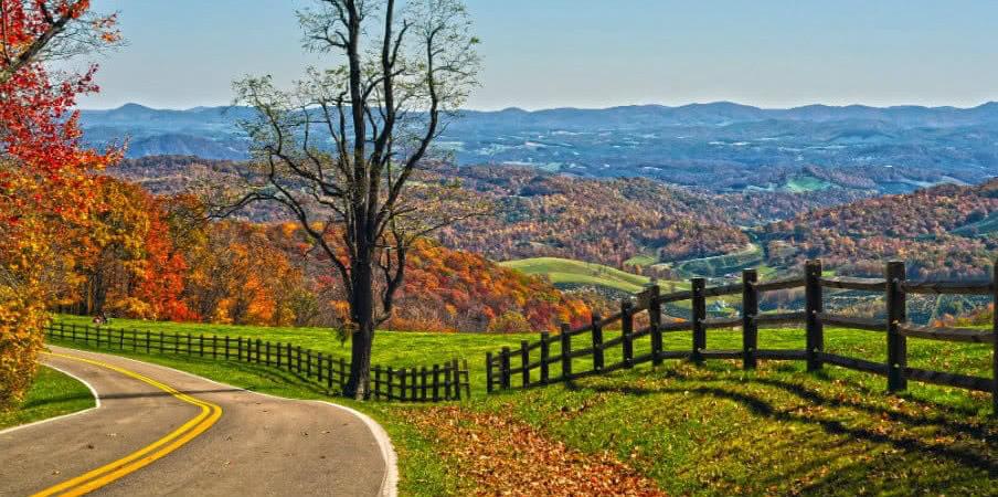Blue Ridge Parkway, Virginia, USA