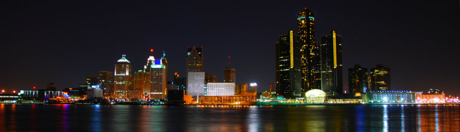 buildings view at night