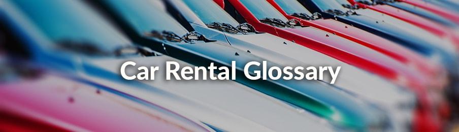 car rental glossary usa