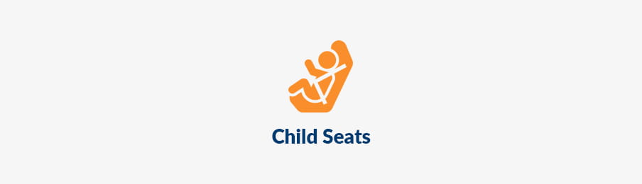 Child seats for rental car extras in the US banner