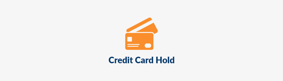 Credit card hold in picking up rental car US banner