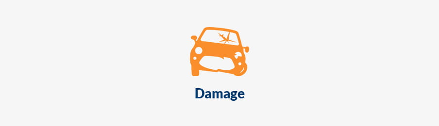 Checking you car damage US banner