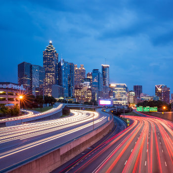 downtown atlanta georgia highway