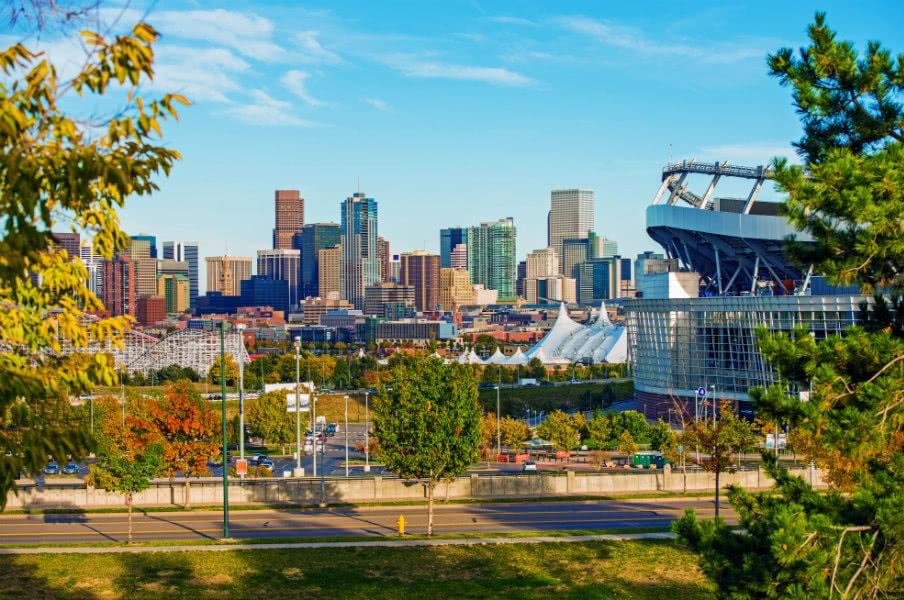 Downtown Denver cityscape in Colorado, USA