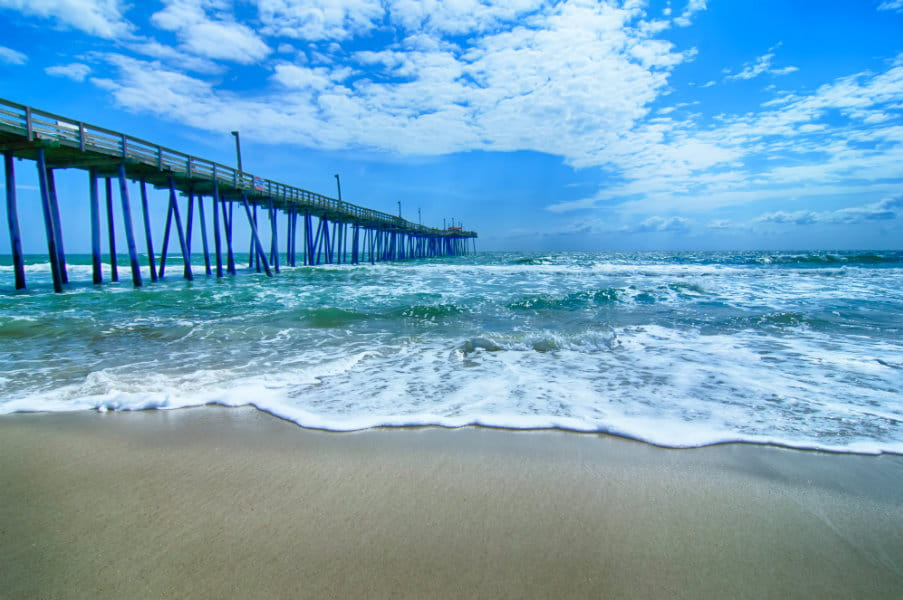 Fishing pier on the Outer Banks, North Carolina, USA