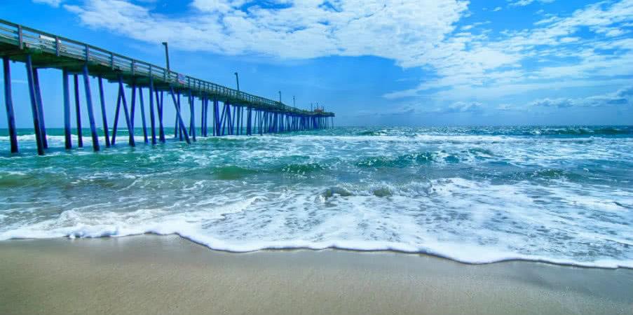 Fishing pier on the Outer Banks, North Carolina, USA