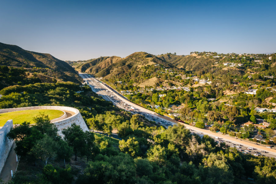 405 Freeway from the Getty Center