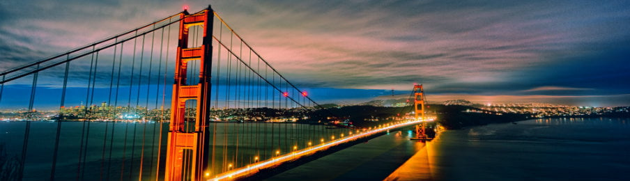 the famous golden gate bridge view in san francisco