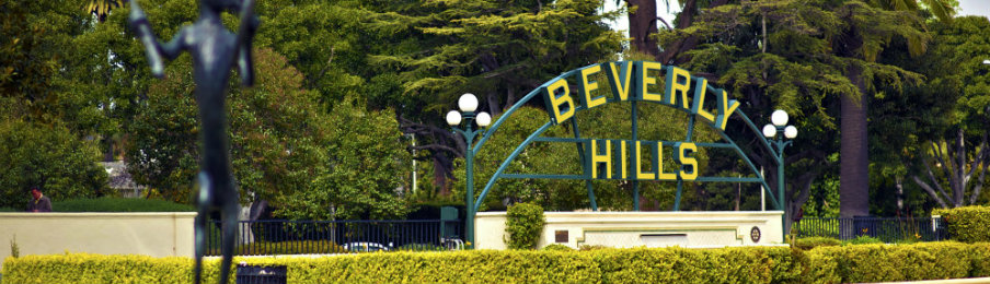 beverly hills sign in the park