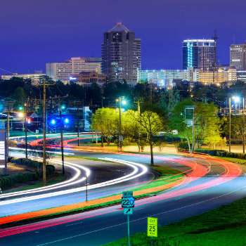greensboro, north carolina downtown skyline view