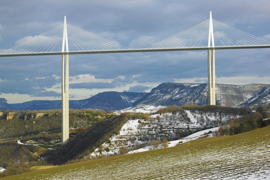 he highest bridge in the world - Millau, France