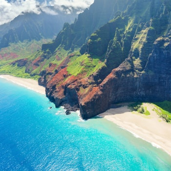 Coastline of Kauai, Hawaii
