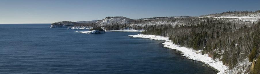 Lake Superior in winter, Minnesota