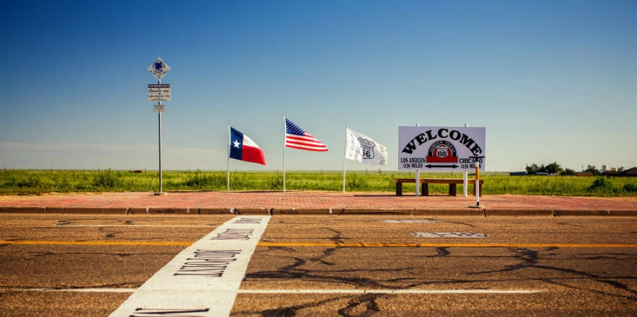 Midway Point along Route 66, Adrian, Texas, USA