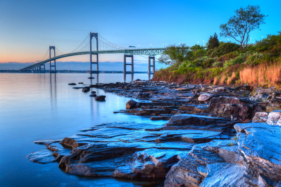 Newport bridge, Rhode Island, New York, US