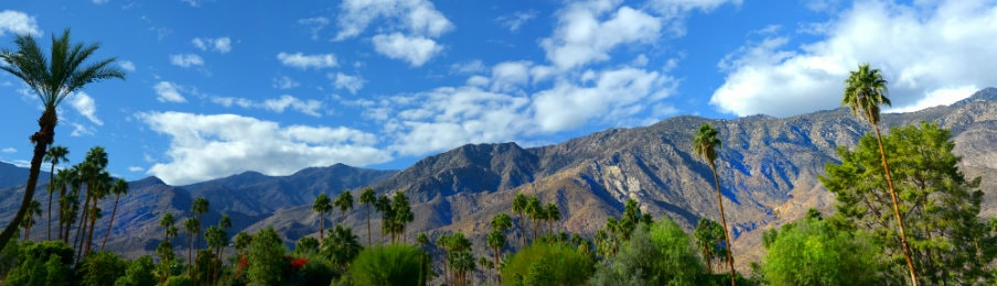 View of mountains at Palm Springs, California