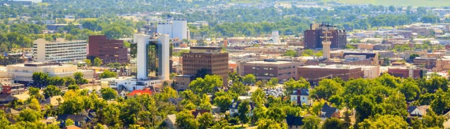 Panoramic view of Rapid City, South Dakota