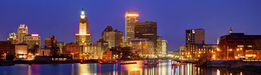 Providence Rhode Island, USA skyline