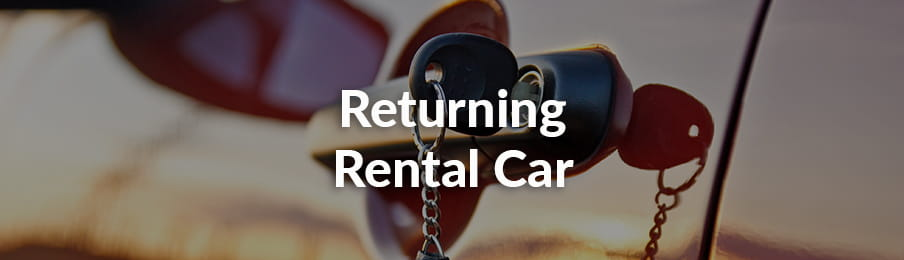Returning your rental car in US guide banner