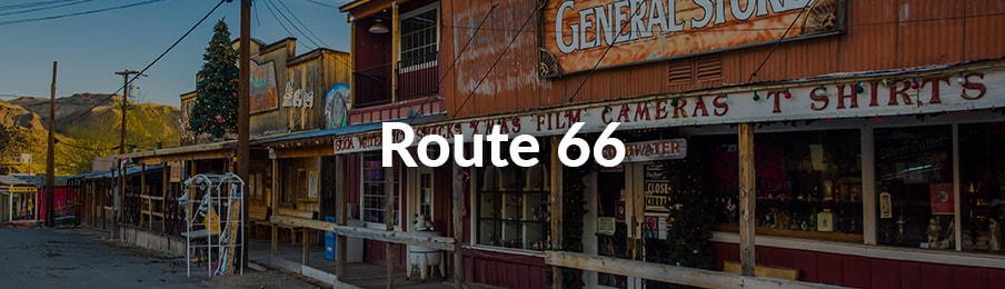 Route 66 road trips in the US banner