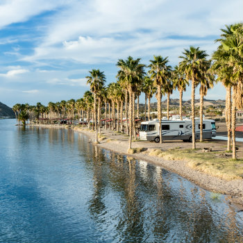 RV camping at Laughlin, Nevada
