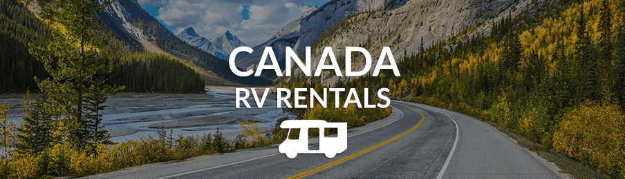 Road through Canada from an RV rental