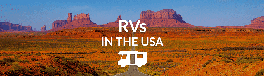 Driving in an RV in Monument Valley, USA