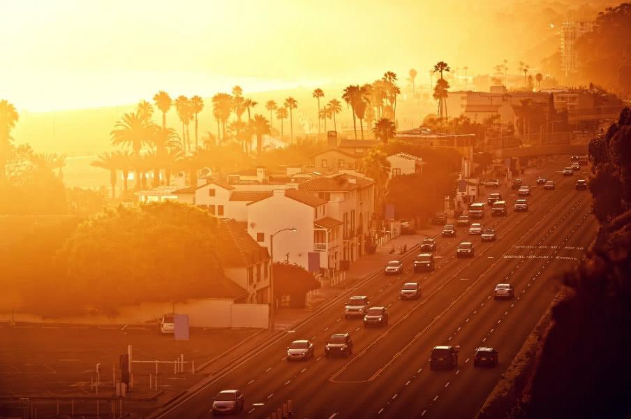 Santa Monica sunset street