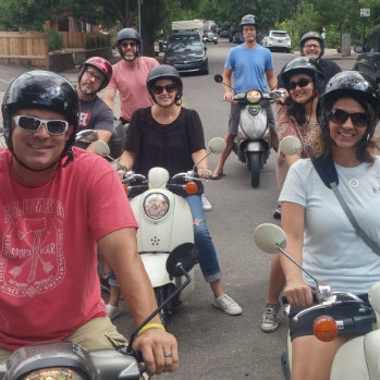 scooter rental service and guided sightseeing scooter tours in denver