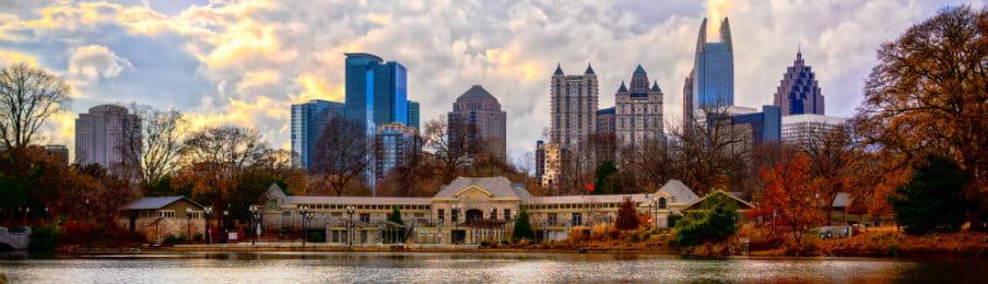 Skyline of downtown at Atlanta, Georgia