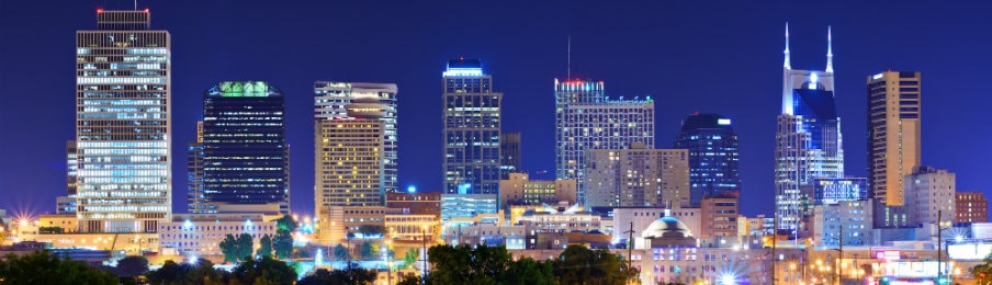 Skyline of Downtown Nashville, Tennessee, USA
