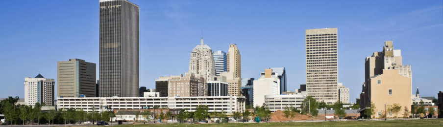 skyline of oklahoma city in oklahoma