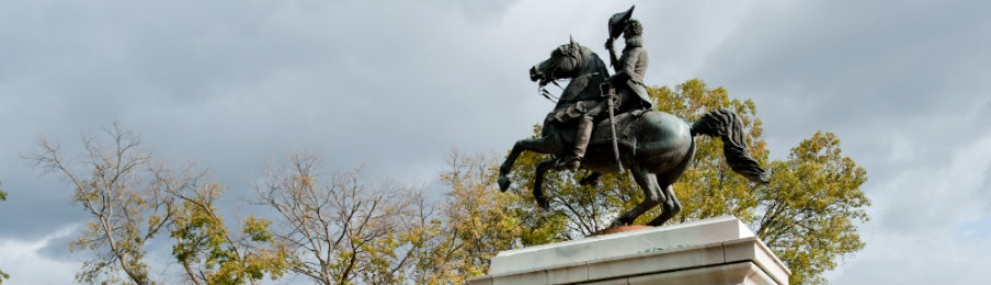statue of andrew jackson at state capitol in nashville tennessee