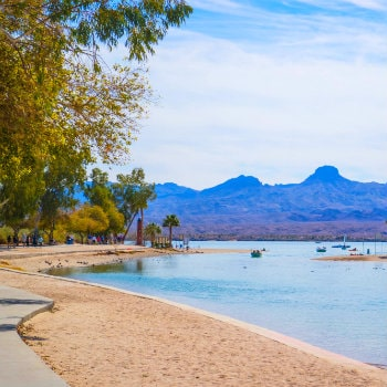 sunny day at lake havasu arizona
