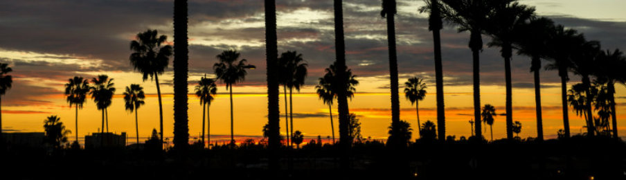 sunset at anaheim california