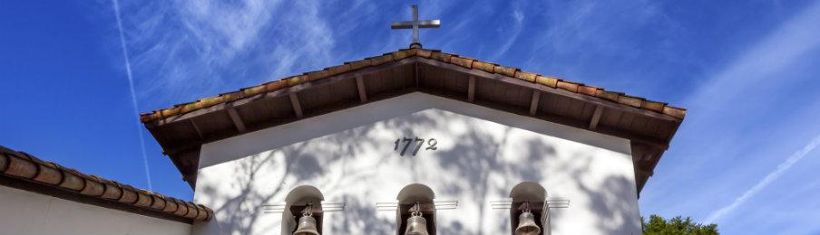 the famous mission san luis obispo de tolosa facade bells
